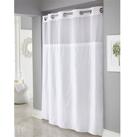 hookless mystery shower curtain hookless white mystery polyester shower curtains walmart com