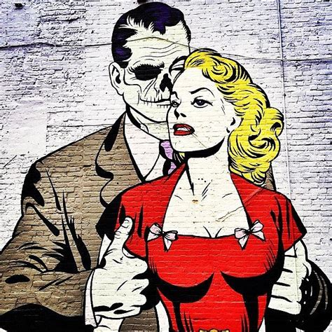 Comic Wall Murals new york city street art love zombie style photograph