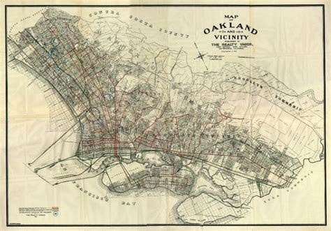 oakland map map of oakland graphics and