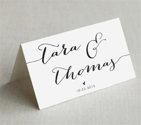 Wedding Place Card Template Rustic by Printable Wedding Place Cards Custom Wedding Name Cards