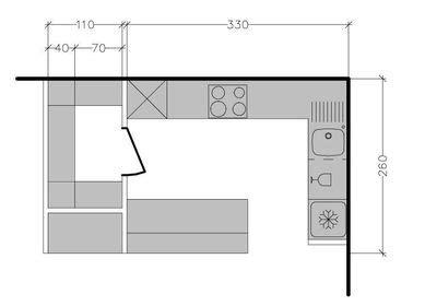 plan pour cuisine aménagée 3835 modele de cuisine en u