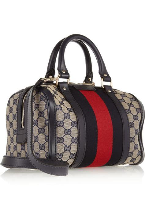 Sepatu Gucci Adelle Wedges Canvas Gold Semi Ori 3450 G 1 gucci vintage web gg canvas mini bowling bag in gray lyst