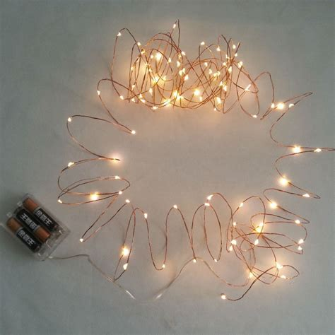 10m 100 led 3 aa battery powered decorative led copper