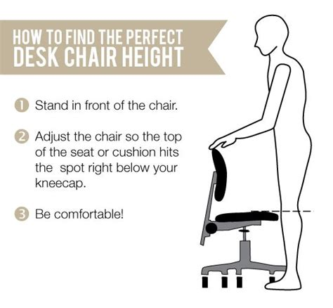 quick tip finding the ideal height for your task chair