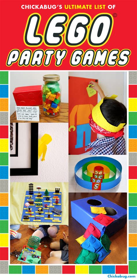 lego themed birthday games the ultimate list of lego 174 party games chickabug