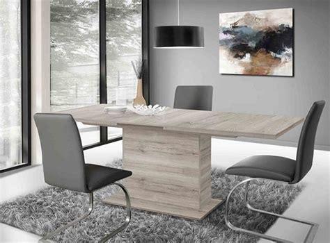 le esszimmertisch table de repas avec pied central avec allonge calpe chene