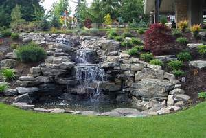 hillside landscaping hillside landscaping with rocks and waterfall front yard