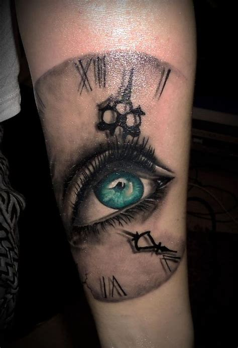 tattoo eye nice eye on the time realistic tattoo by 2nd face tattoo