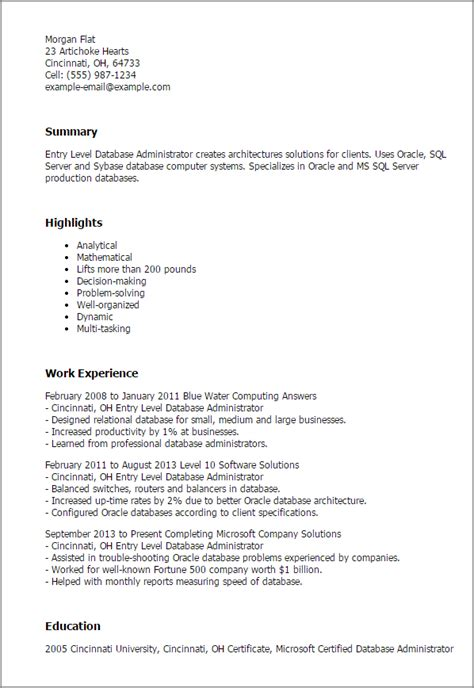 cover letter for database administrator 9286