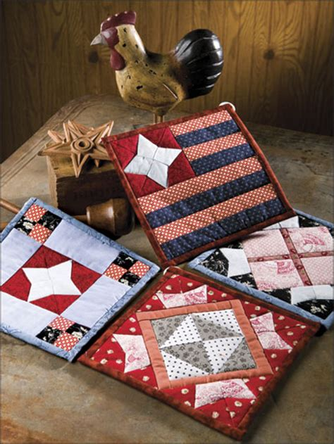 easy to make american pride quilted potholders quilting