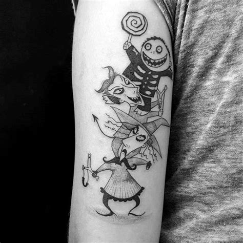 lock stock and barrel tattoo 100 nightmare before tattoos for design ideas