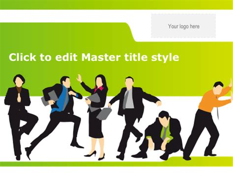 business theme powerpoint 2007 free download business and silhouette emotions free powerpoint template
