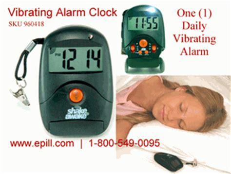 1 alarm vibrating alarm travel clock shakeawake