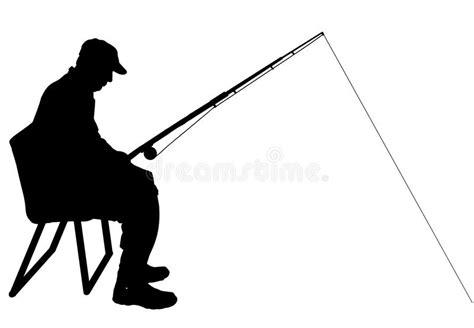 clipart uomo siluetta di vettore di un uomo pesca illustrazione