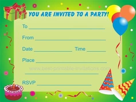 kid birthday invitation card template printable boy birthday invitations listmachinepro