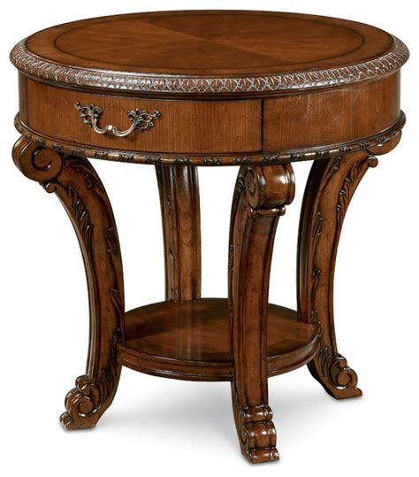 traditional accent tables shop houzz a r t home furnishings old world round end
