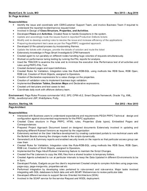 Enterprise Architect Sle Resume by Pega Business Architect Resume 28 Images Retail Resumes Sales Associate Professional Resume