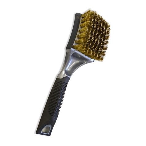 professional soft grip brass bristle tire brush