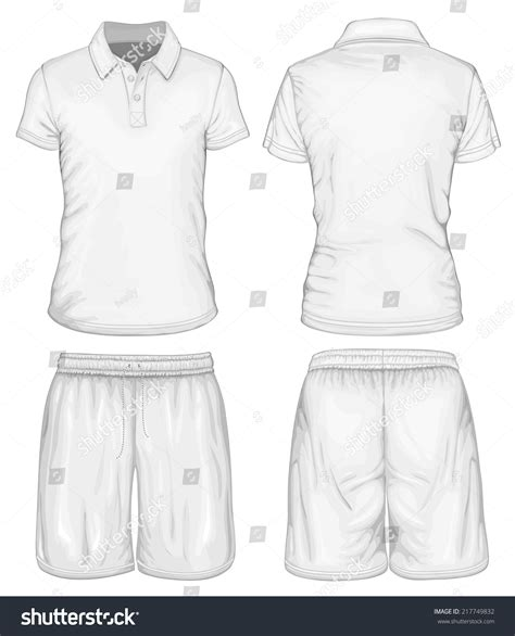 polo shirt template front and back s white sleeve polo shirt and sport shorts
