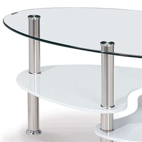 Table Basse Ovale Verre