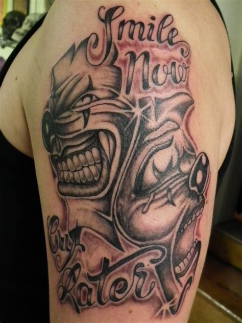 tattoo designs laugh now cry later 1000 images about smile now cry later on