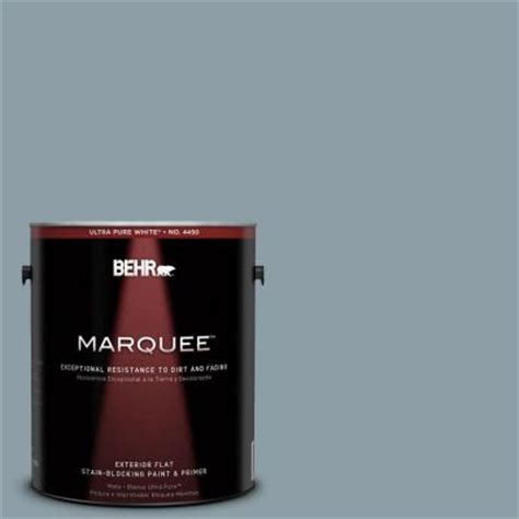 behr marquee 1 gal 540f 4 shale gray flat exterior paint 445401 the home depot