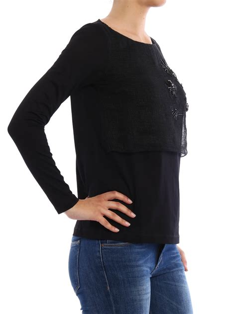 Embellished Sleeve Shirt sleeve embellished t shirt by fabiana filippi t