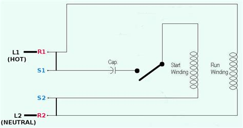 capacitor start motor wiring diagram wiring diagram and