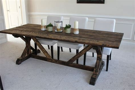 How To Build A Trestle Dining Table Trestle Dining Table Plans Woodworking Projects Plans