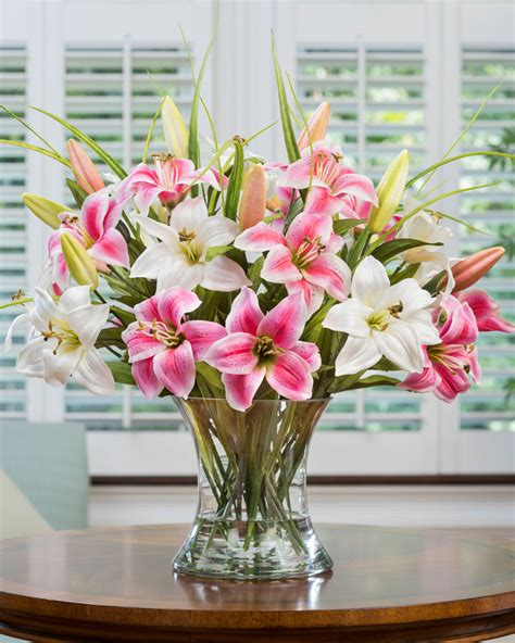 capture garden beauty with a large lily silk flower