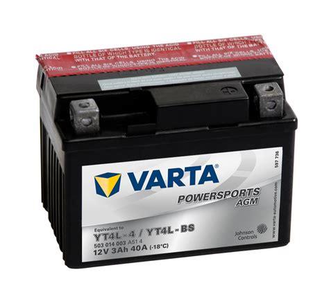 Motorrad Batterie 25ah by Varta Powersports 3 Ah Agm Motorrad Roller Batterie 12v