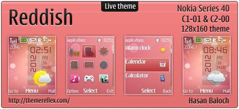 nokia 2690 android themes reddish live theme for nokia c1 01 c2 00 2690 themereflex