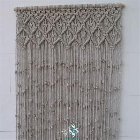 macrame cortinas cortina de macram 233 modelo rombos macrameart