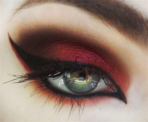 eyeshadow tutorial red dramatic red eye makeup tutorial mugeek vidalondon
