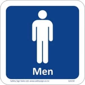 Mens Bathroom Sign Restroom Sign Men 120 X 120mm