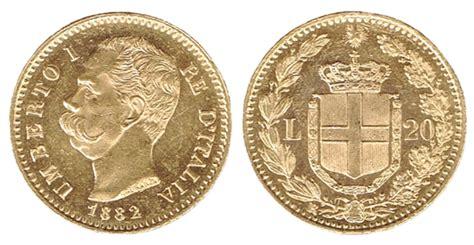 d italia cambiavalute italia umberto i 20 lire 1882 cambiavalute frisione