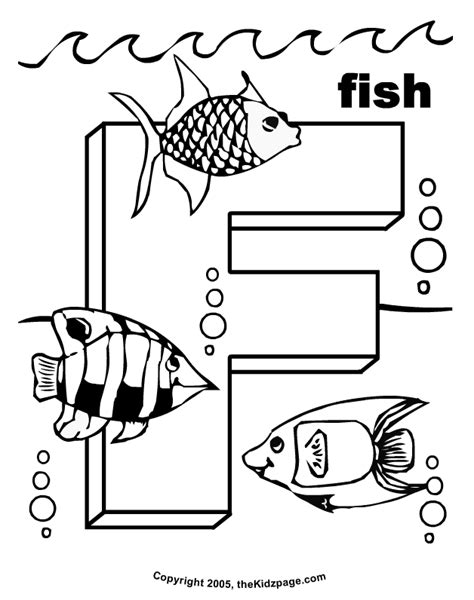 preschool coloring pages letter f f is for fish free coloring pages for kids printable