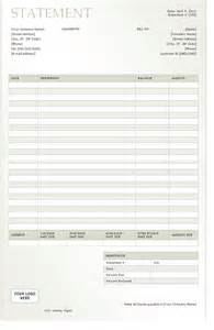 Statement Template billing statement 2012 template sle