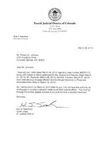 Child Support Letter To Judge Ii El Paso County District Court 96 Dr 1112 The Record