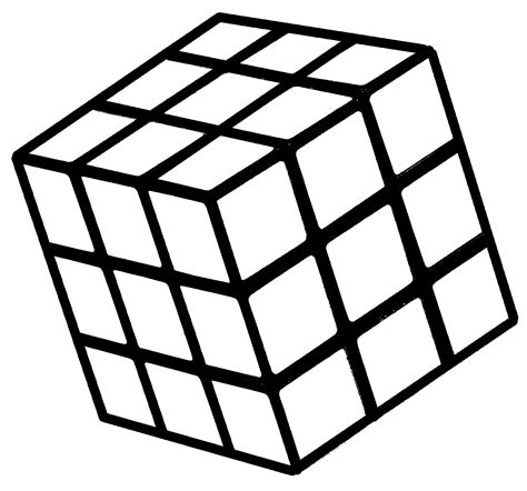 free rubiks cube coloring pages