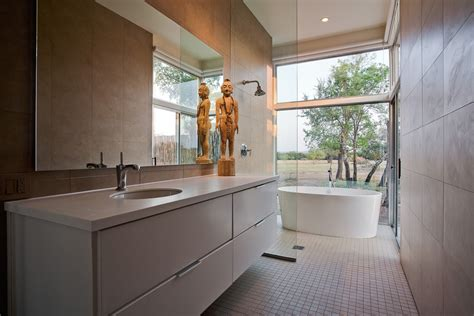 Large Bathroom Designs Wonderful Large Frameless Mirror Decorating Ideas Images In Bathroom Contemporary Design Ideas
