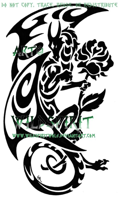rose and dragon tattoos 400x663 source mirror