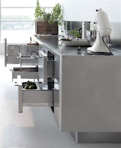 sleek and sumptuous stainless steel kitchen by abimis stainless steel kitchen design by abimis interiorzine