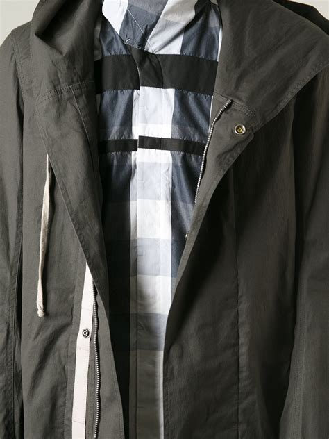 New Dc Parka Grey lyst rick owens oversize parka in gray for