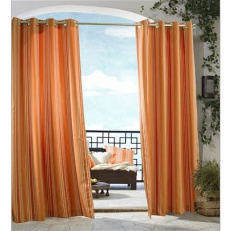 orange outdoor curtains ivory escape sheer grommet top panel altmeyer s bedbathhome