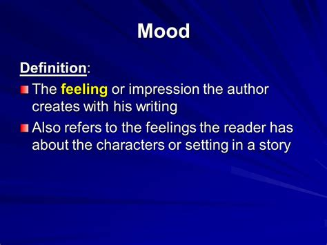 exle of mood in literature mood introductory tone and mood in literature
