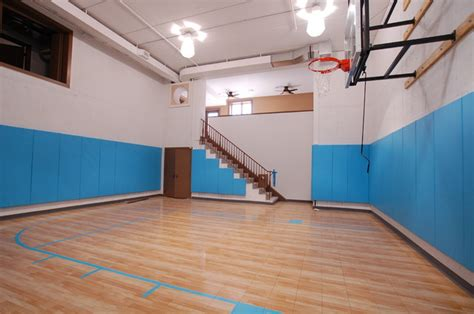 basement basketball court sport court family fun eclectic home gym dc metro