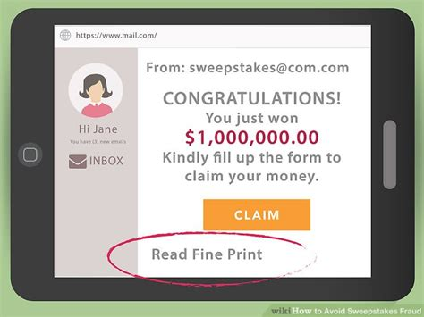 Sweepstakes Fine Print - how to avoid sweepstakes fraud with pictures wikihow