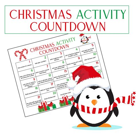 christmas activity forwork ultimate calendar countdown will living