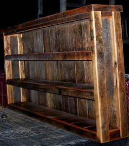 reclaimed barn wood shelves custom reclaimed barn wood book shelves by wilson creek
